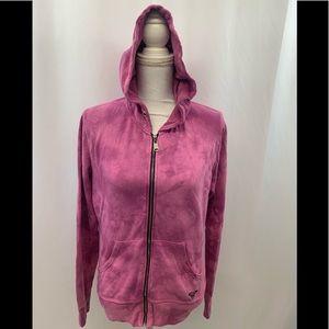 Roxy Tops - ROXY Full Zip Pink Hooded Sweatshirt Hoodie Size L